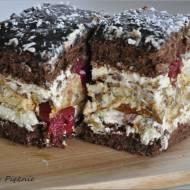 Ciasto czekoladowo - wisniowo - orzechowe