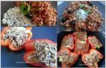 mięso mielone w dwóch odsłonach: z dzikim ryżem i nadziewaną papryką