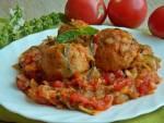 Pulpeciki drobiowe z cukinią i pomidorami