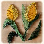String Art czyli kwiatki z nitek