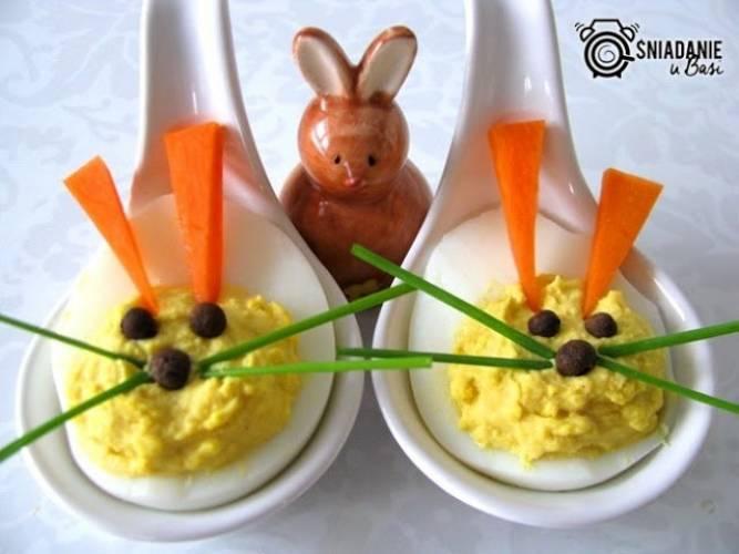 """Jajka faszerowane """"zajączki"""""""