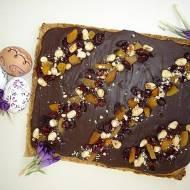 Mazurek kajmakowo- czekoladowy z bakaliami