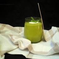 Wiosennie zielona zupa z groszku