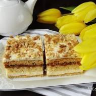 Ciasto krówka z orzechami