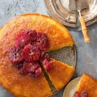 Ciasto jogurtowe z czerwonymi pomarańczami