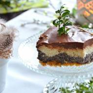 """Ciasto makowo – """"serowe"""" z polewą czekoladową"""