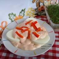 Jajka w sosie andaluzyjskim. Wielkanocne śniadanie.
