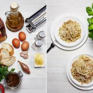 Pappardelle po sycylijsku – z filecikami anchois i czosnkiem