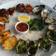 Ostrygi japońskie zapiekane z sosem