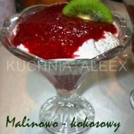 Malinowo – kokosowy pudding z chia wg Aleex