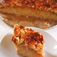 Toscakaka - ucierane ciasto z migdałową praliną
