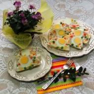 Wiosenna galaretka z warzywami i szynką
