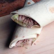 zamiast kanapki do pracy - pulled pork w tortilli