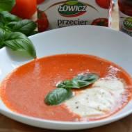 Pomidorowa z bazylią i mozzarellą