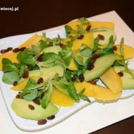 Sałatka z awokado i mango