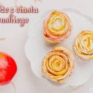 Jabłkowe róże z ciasta francuskiego krok po kroku