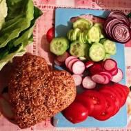 (poznańskie) domowe burgery z indyka, krewetkami i sosem koperkowym