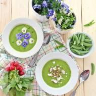 Wiosenna zupa krem z groszku