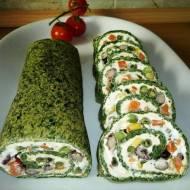 Rolada szpinakowa z warzywami