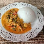 Kurczak z curry i pieczarkami
