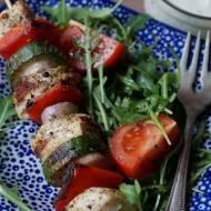 Szaszłyki drobiowo-warzywne