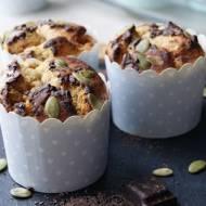 Babeczki z mąką dyniową i czekoladą