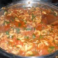 Krewetki w pomidorach