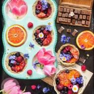 Kruche babeczki z owocami (bez cukru i glutenu)