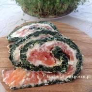 Rolada szpinakowa z łososiem wędzonym