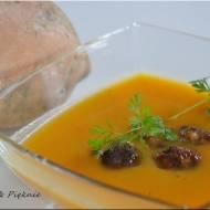 Zupa krem z batatów z klopsikami
