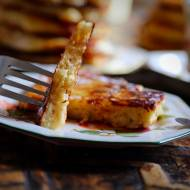 Placuszki ryżowe z jabłkami i bananami