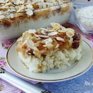Płatki ryżowe z jabłkami i żurawiną