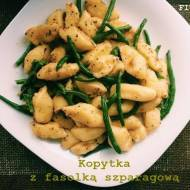 Kopytka z fasolką szparagową
