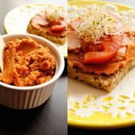 Pomidorowy pasztet z soczewicy do smarowania.