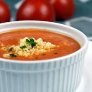 Krem z marchewki i pomidorów z kaszą jaglaną (pomidorowa inaczej)