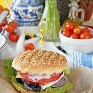 Domowe burgery z fetą i oliwkami - Greek Burgers