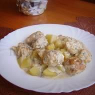 Pulpeciki z dorsza w sosie koperkowym