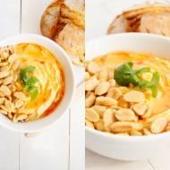 Tajska pasta z ciecierzycy z masłem orzechowym i sosem słodkim chili.