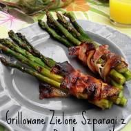 Grillowane zielone szparagi z boczkiem