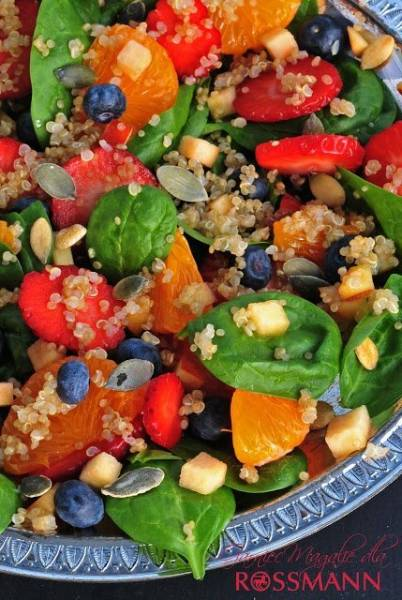 Sałatka owocowa z komosą ryżową - quinoa
