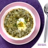 Zupa szczawiowa - wegeteriańska