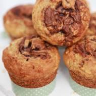 Muffiny Bananowo Owsiane z Nutellą