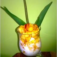 Szybki deser ryżowy z karmelizowanym jabłkiem