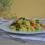 Kaszotto z indykiem i warzywami z orientalną nutą