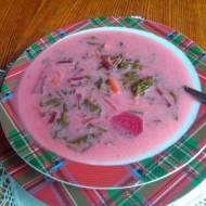 zupa z botwinki wegetariańska
