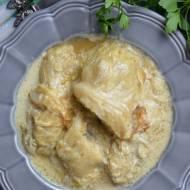 Gołąbki z ziemniakami i pieczarką