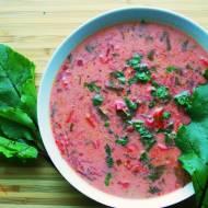 Zupa z botwinki z mleczkiem kokosowym