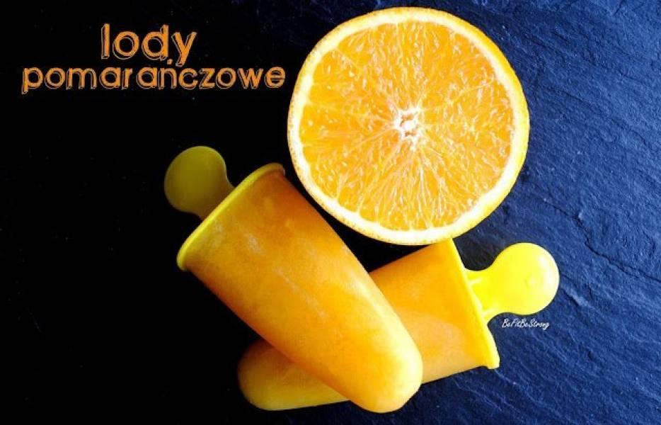 Jednoskładnikowe lody pomarańczowe