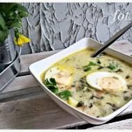 Szczawiowa z ziemniakami i jajkiem
