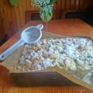 ciasto z serem i rabarbarem